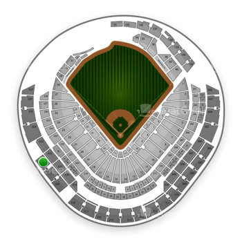 Miami Marlins at Marlins Park Section 322 View