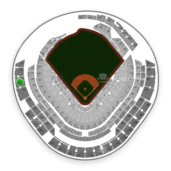 Miami Marlins at Marlins Park Section 325 View