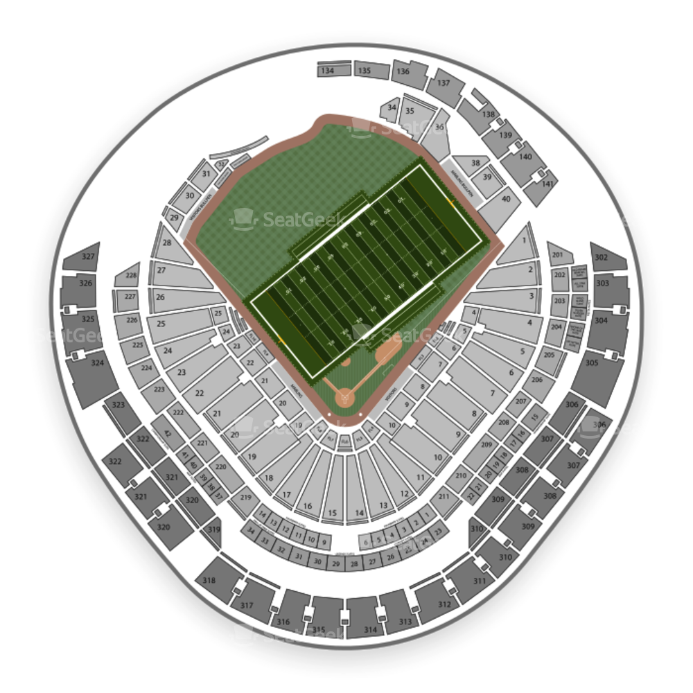 Marlins Park Seating Chart NCAA Football