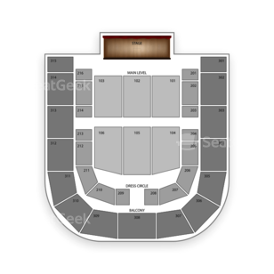 City National Civic Seating Chart Dance Performance Tour