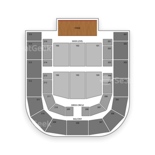 City National Civic Seating Chart Concert