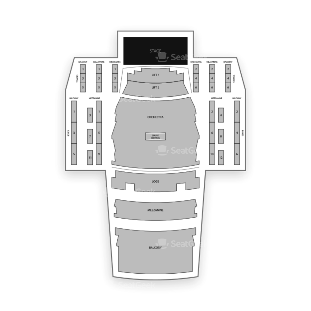 Pikes Peak Center Seating Chart Dance Performance Tour
