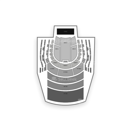 New Jersey Performing Arts Center Seating Chart Map Seatgeek