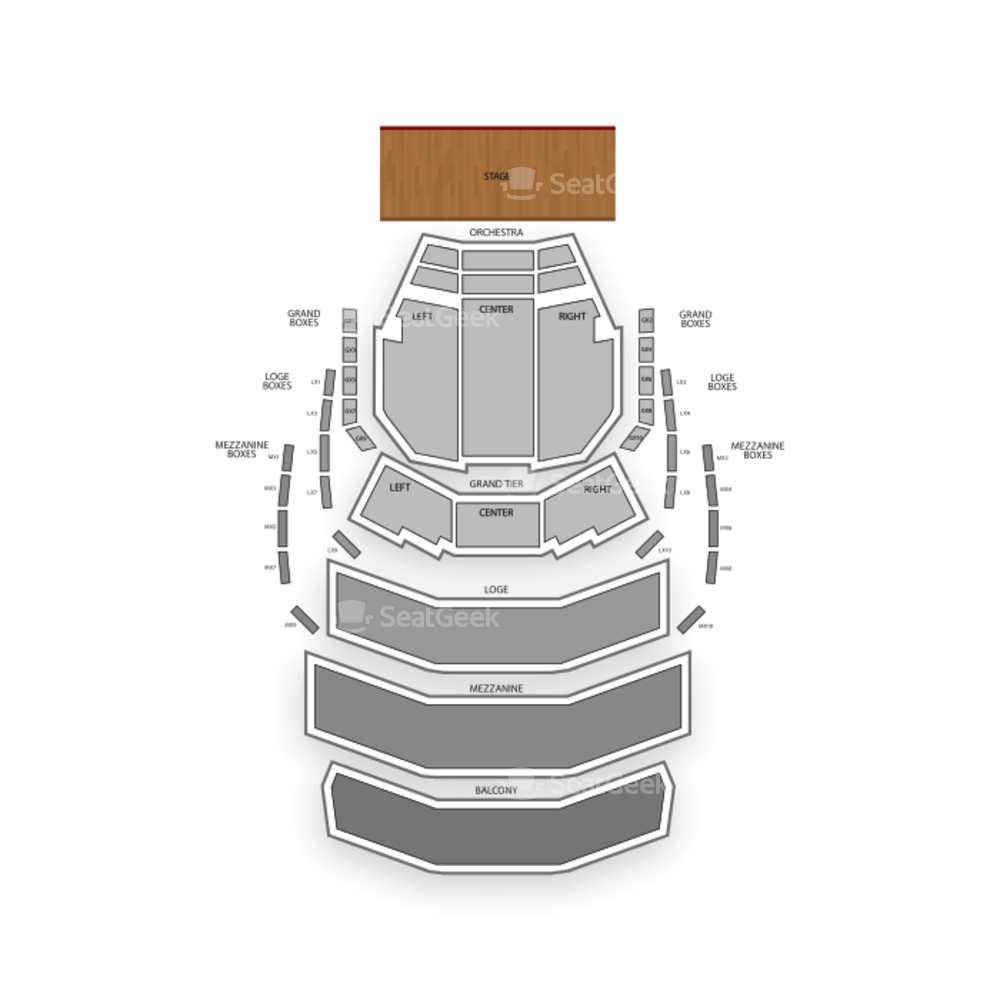 Kravis Center Seating Chart Classical