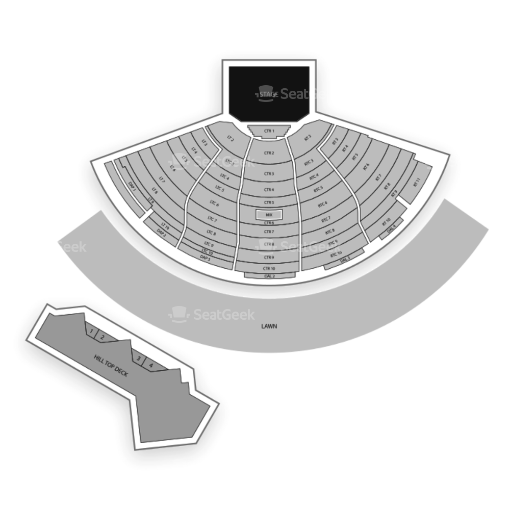 DTE Energy Music Theatre Seating Chart Music Festival