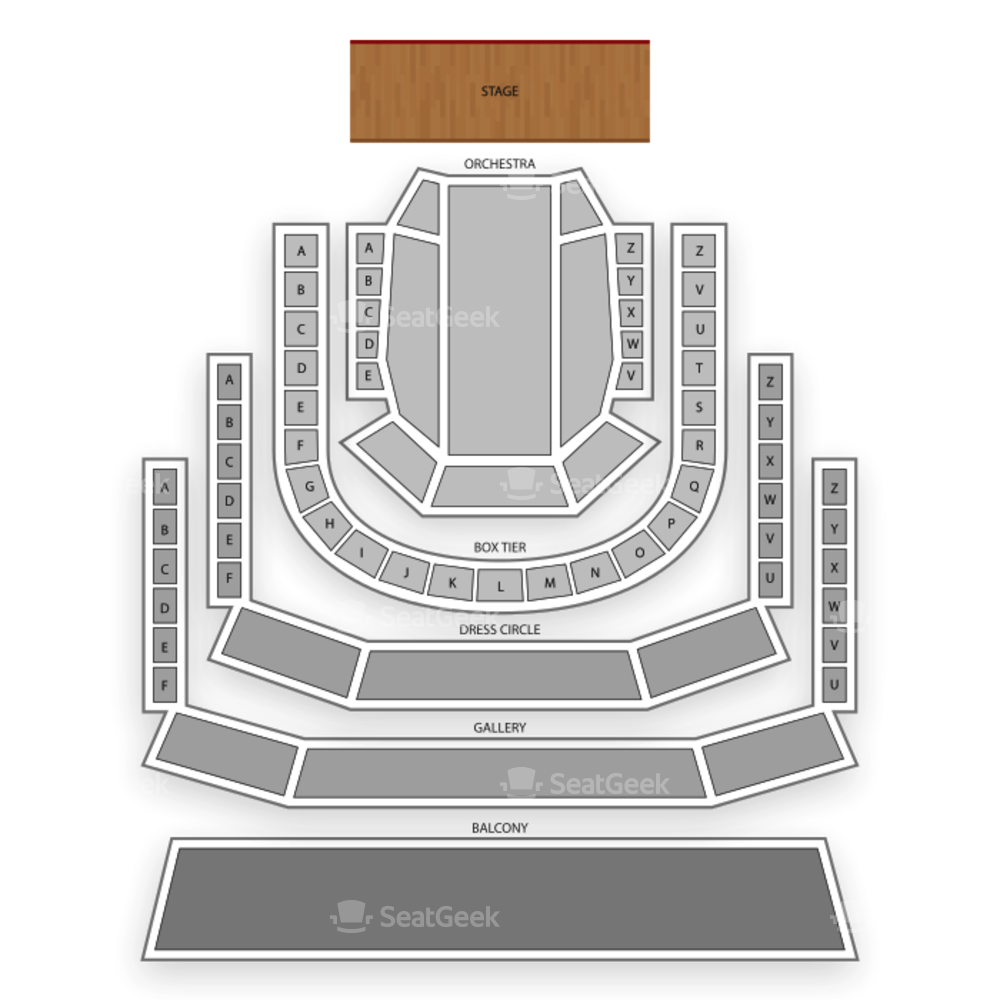 The Smith Center Seating Chart Broadway Tickets National