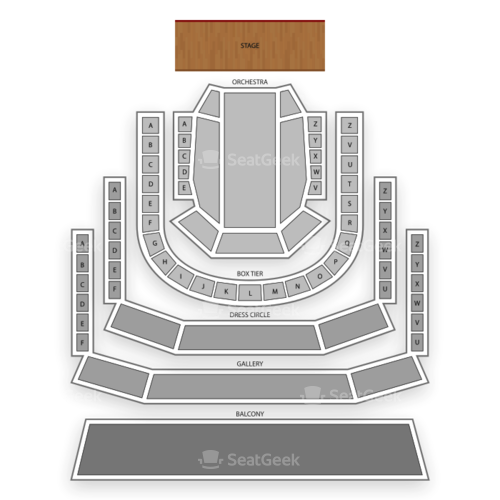 The Smith Center for the Performing Arts Seating Chart Concert