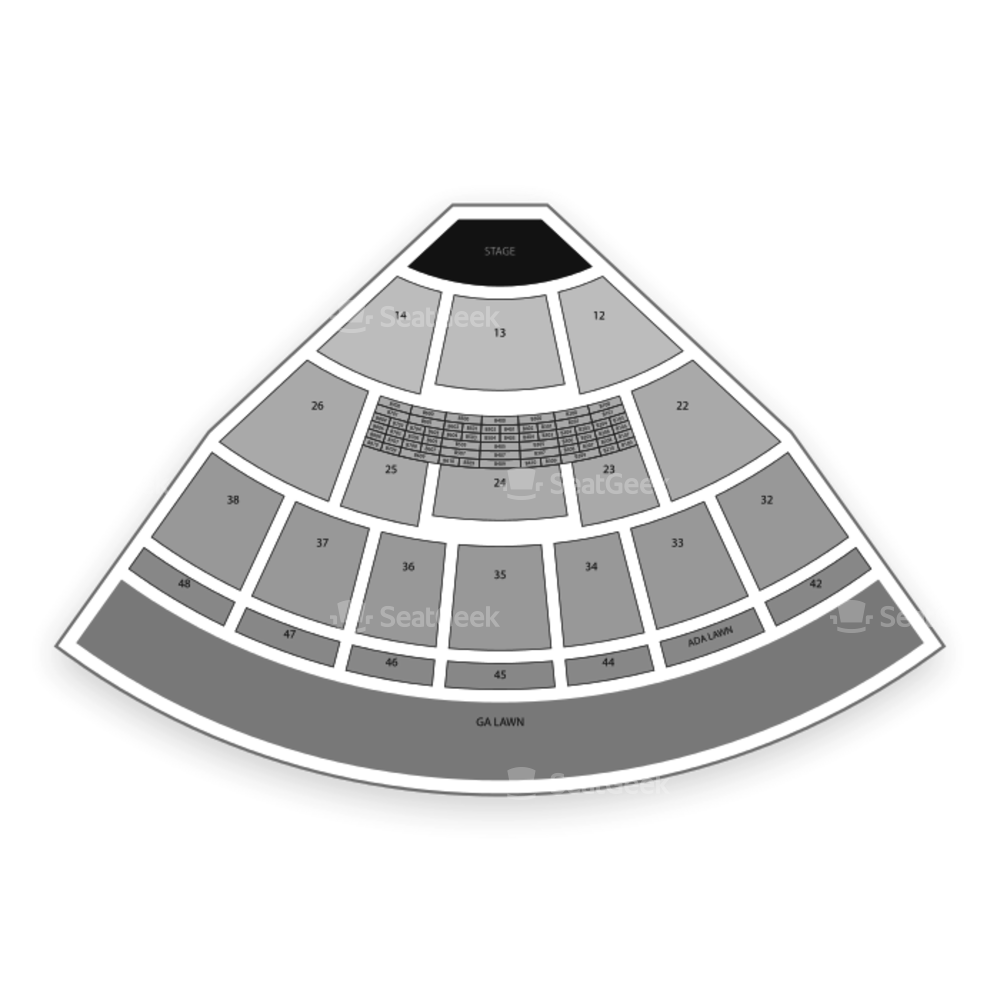 Blossom Music Center Seating Chart Concert