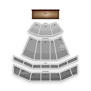 The Venue at Horseshoe Casino Seating Chart Theater