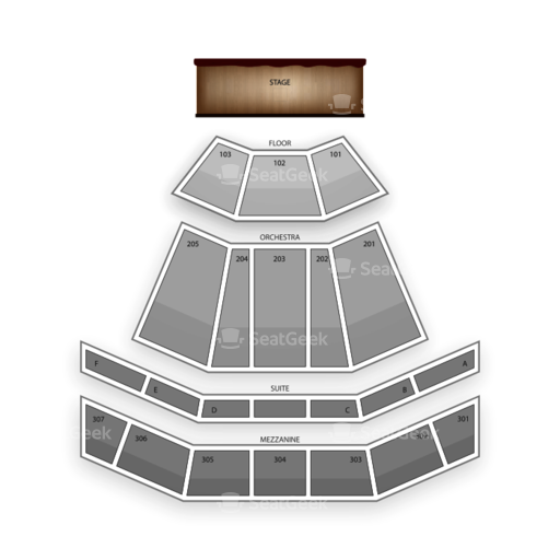 The Venue at Horseshoe Casino Seating Chart