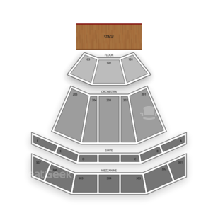 The Venue at Horseshoe Casino Seating Chart Dance Performance Tour