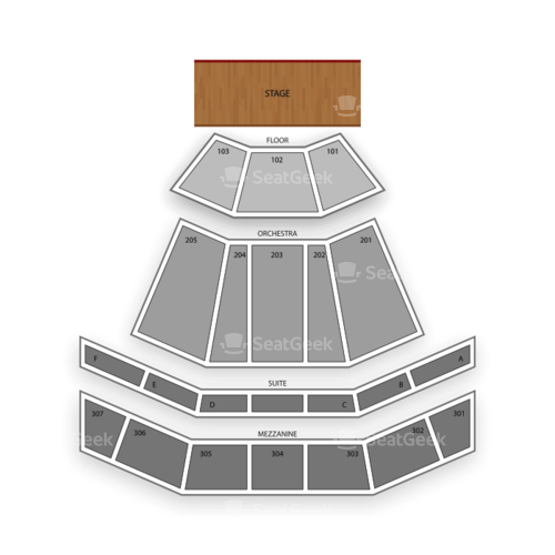 The Venue at Horseshoe Casino Seating Chart Concert
