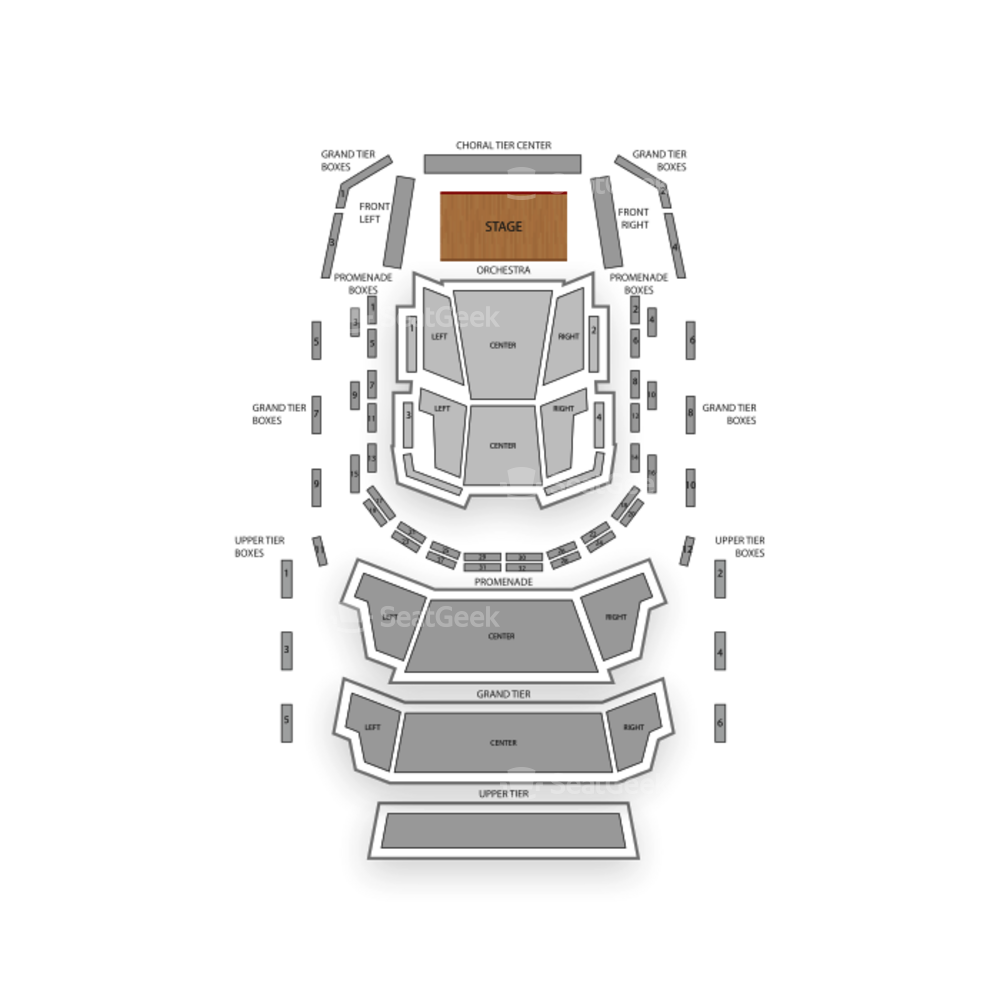 AMP by Strathmore Seating Chart Parking