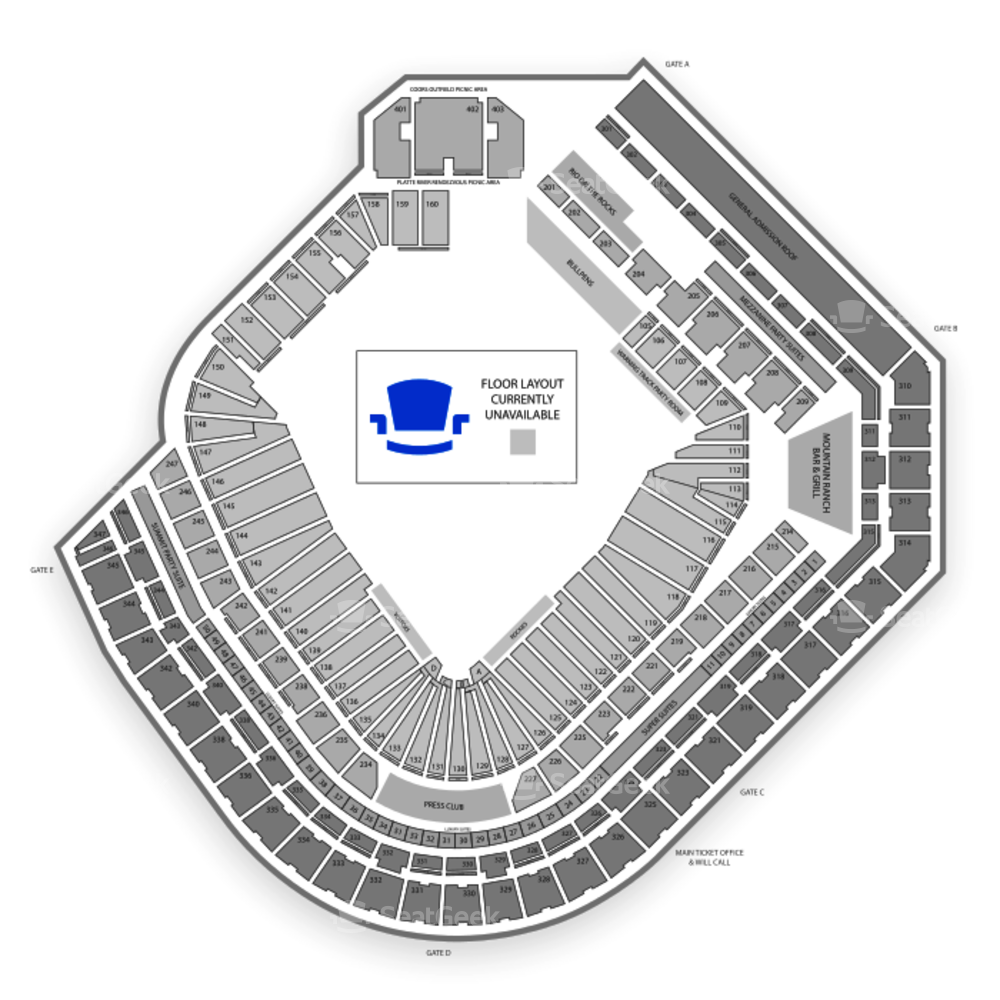 Coors Field Seating Chart Concert & Map | SeatGeek
