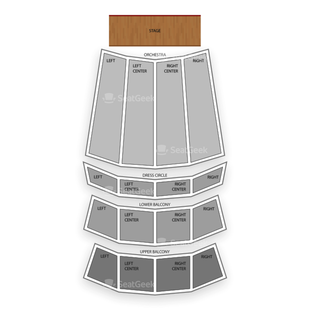 Orpheum Theater Seating Chart Family