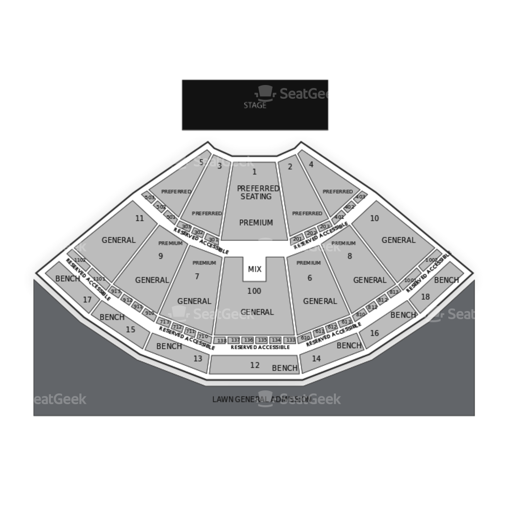 Bethel Woods Center for the Arts Seating Chart Concert