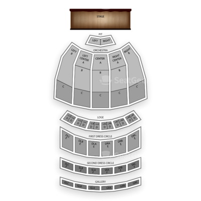 Fox Theatre seating chart Pippin