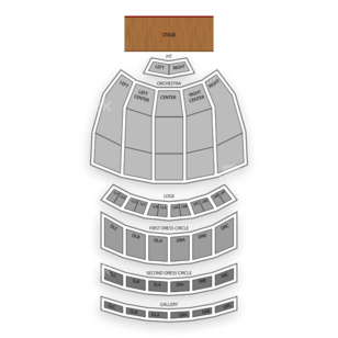Fox Theatre Seating Chart Comedy