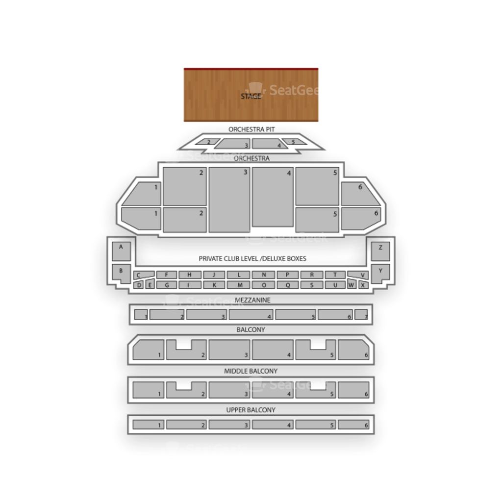 The Fabulous Fox Theatre Seating Chart Map Seatgeek