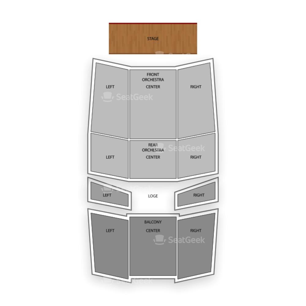 UB Center for the Arts - Drama Seating Chart Concert
