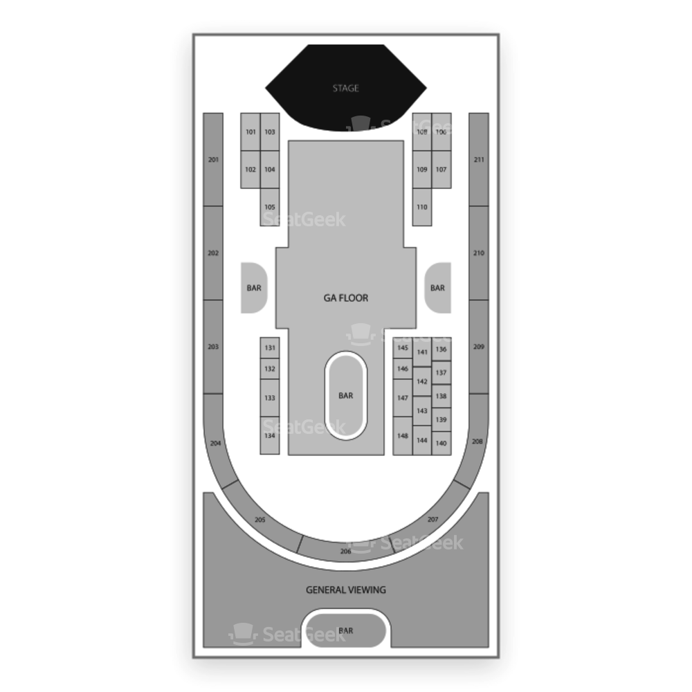 Rebel Seating Chart Concert