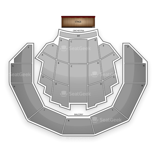 Brady Theater Seating Chart
