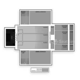 Harrah's Southern California Casino & Resort - Open Sky Theater Seating Chart Concert