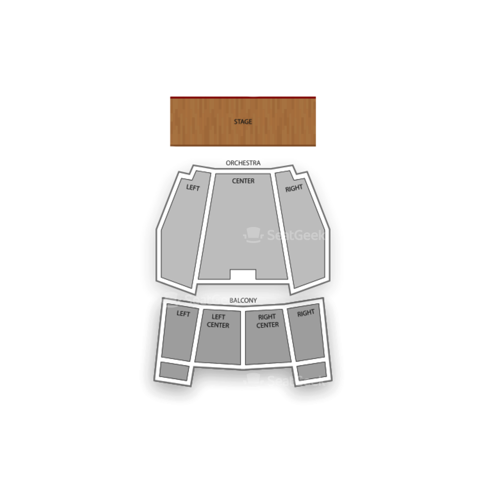 Brown Theatre Seating Chart Dance Performance Tour