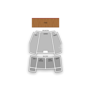 Brown Theatre Seating Chart Comedy
