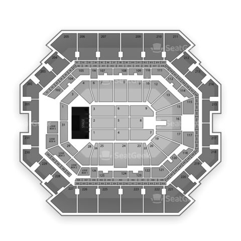 Barclays Center seating chart Bruno Mars