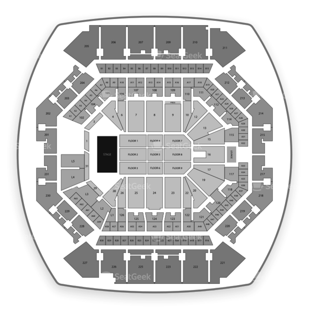 Brooklyn nets seating chart interactive map seatgeek