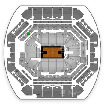 Brooklyn Nets at Barclays Center Section 104 View
