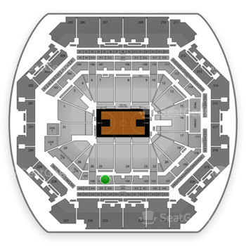 Brooklyn Nets at Barclays Center Section 125 View