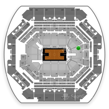 Brooklyn Nets at Barclays Center Section 15 View