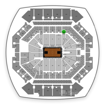 Brooklyn Nets at Barclays Center Section 110 View