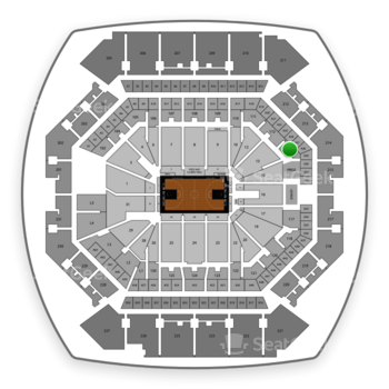 Brooklyn Nets at Barclays Center Section 114 View