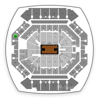 Brooklyn Nets at Barclays Center Section 202 View
