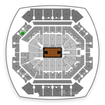 Brooklyn Nets at Barclays Center Section 203 View