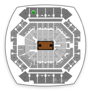 Brooklyn Nets at Barclays Center Section 206 View