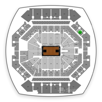 Brooklyn Nets at Barclays Center Section 213 View