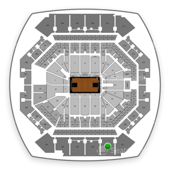 Brooklyn Nets at Barclays Center Section 222 View