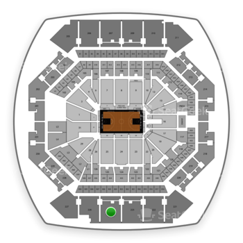 Brooklyn Nets at Barclays Center Section 225 View