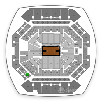 Brooklyn Nets at Barclays Center Section 228 View