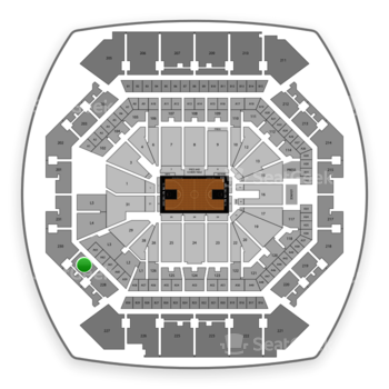 Brooklyn Nets at Barclays Center Section 229 View