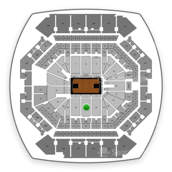 Brooklyn Nets at Barclays Center Section 24 View