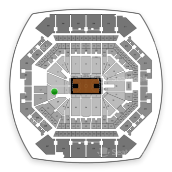 Brooklyn Nets at Barclays Center Section 31 View
