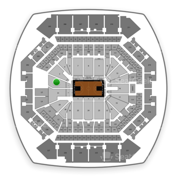 Brooklyn Nets at Barclays Center Section 1 View