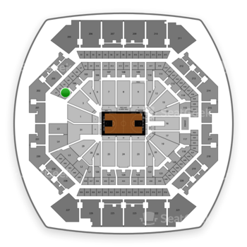 Brooklyn Nets at Barclays Center Section 102 View