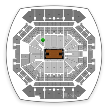 Brooklyn Nets at Barclays Center Section 6 View