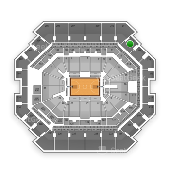 Brooklyn Nets at Barclays Center Section 212 View
